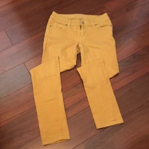 Limited 678 Womens Sz 2 Mustard skinny jeans pants